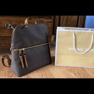 $258 Michael Kors RHEA Backpack Handbag MK Bag